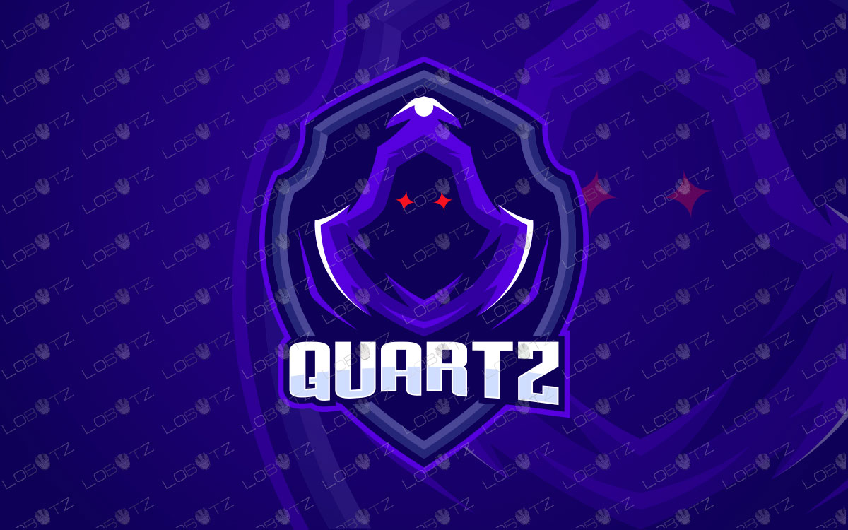 Quartz Mascot Logo For Sale | Ninja Mascot Logo | Assassin Mascot Logo