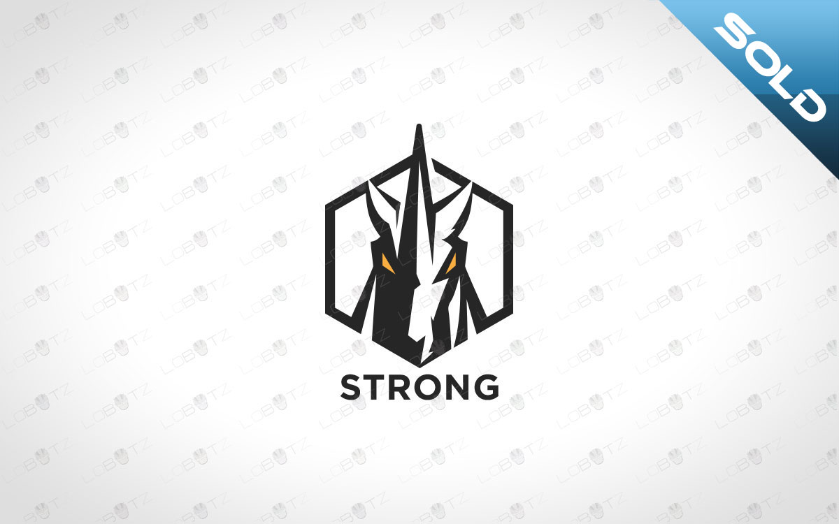 Strong Minimalist Unicorn Logo Strong Unicorn Logo For Sale