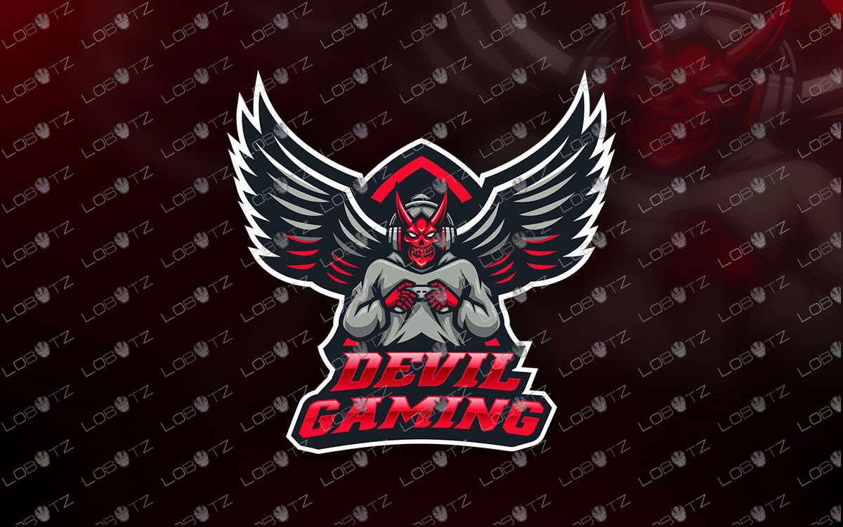 Devil Gamer Mascot Logo Gamer Devil Mascot Logo For Sale