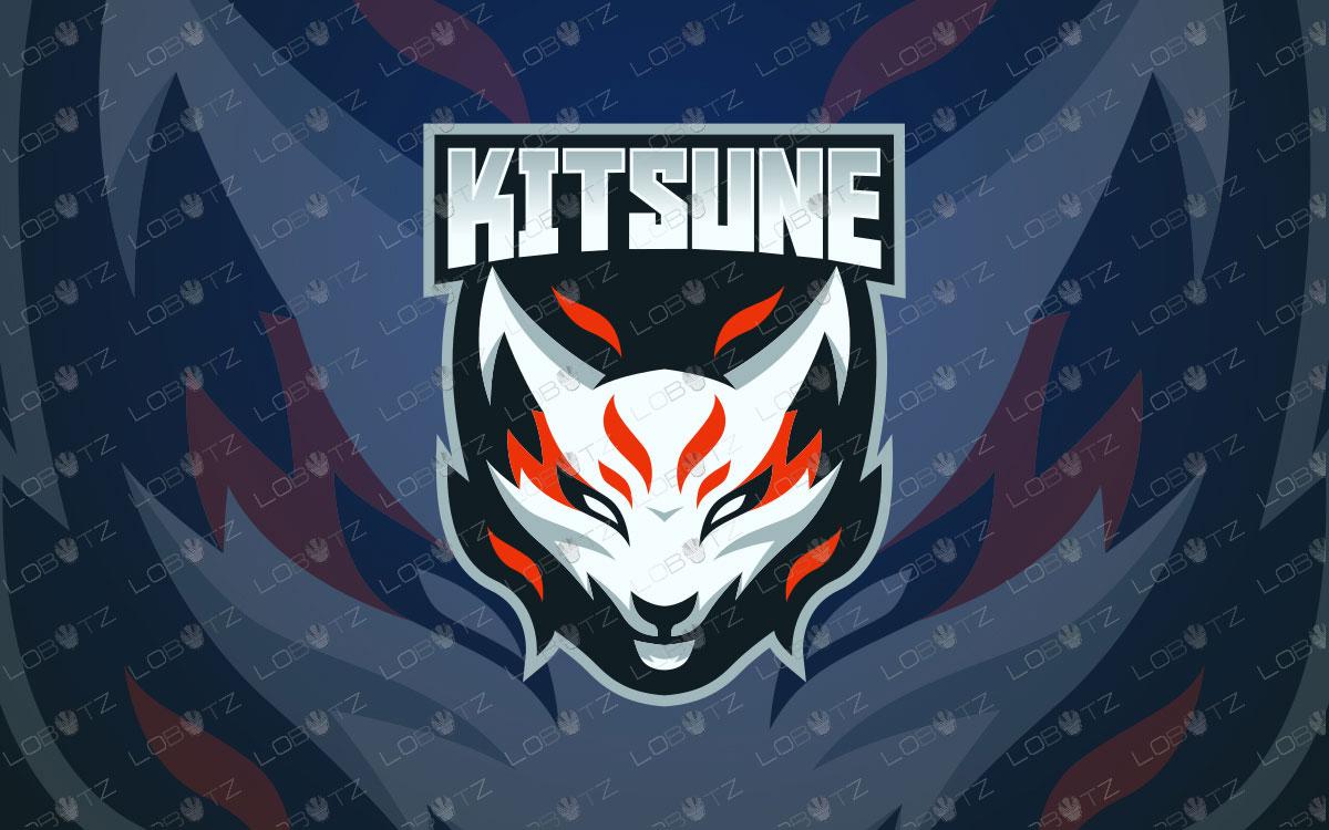 Kitsune Mascot Logo For Sale | Premade Fox Mascot Logo