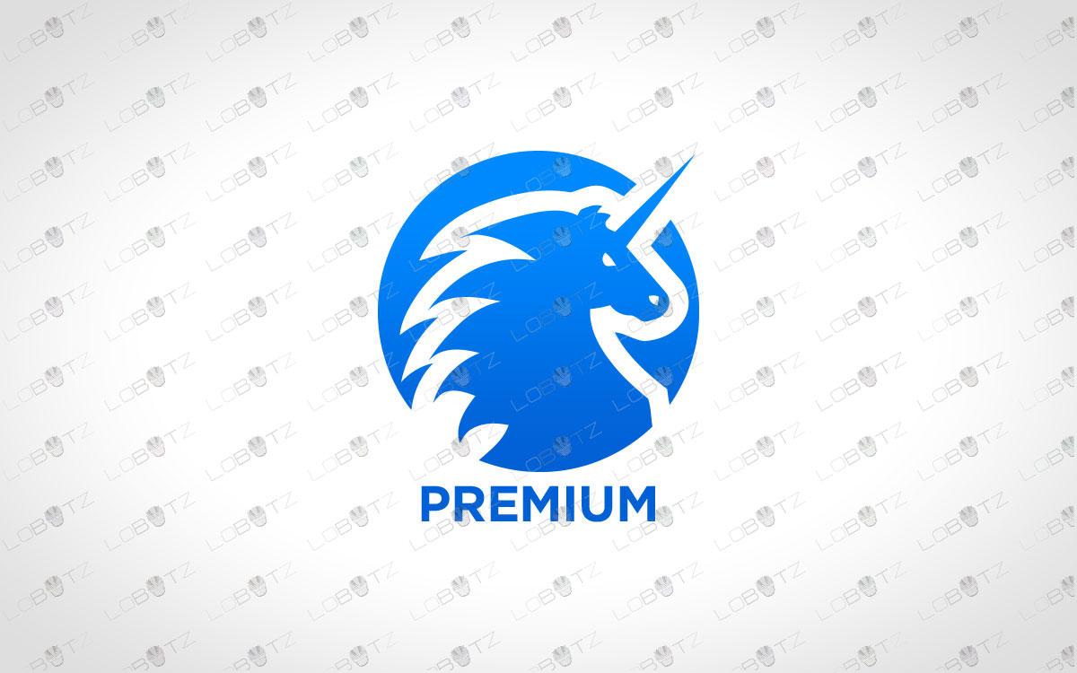 Strong Unicorn Logo   Premade Unicorn Logo For Sale