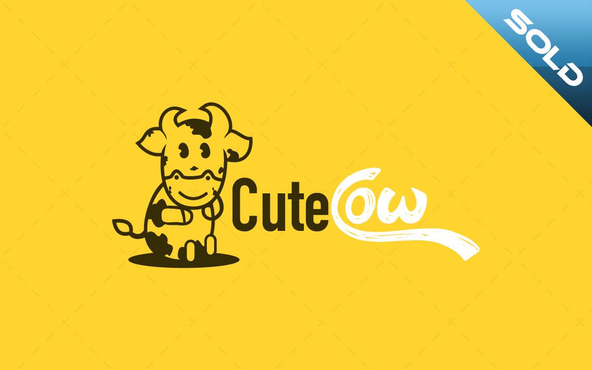 cute cow logo for sale