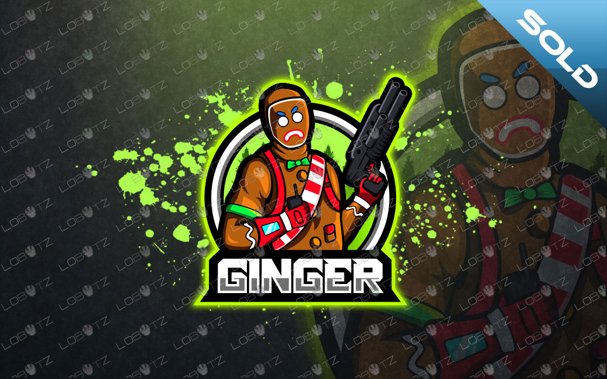 Gingerbread Fortnite Mascot Logo For Sale Gingerbread eSports Logo