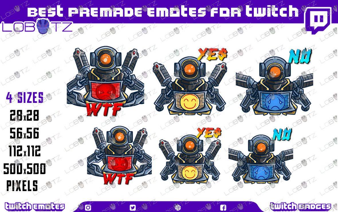 Apex Legends Pathfinder Emotes / Pathfinder Sub Badges For Twitch & Stream