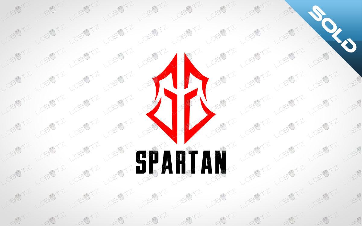spartan head logo premade logos