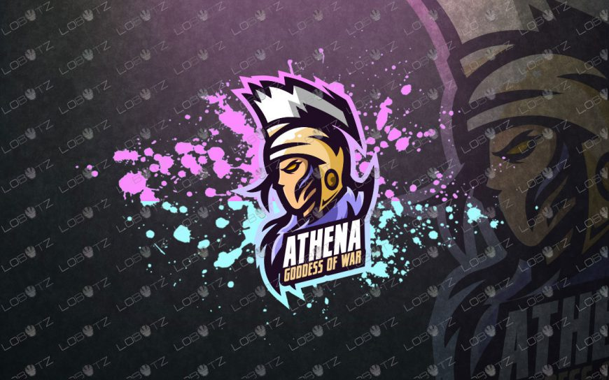 Athena Mascot Logo | God Athena Mascot Logo For Sale