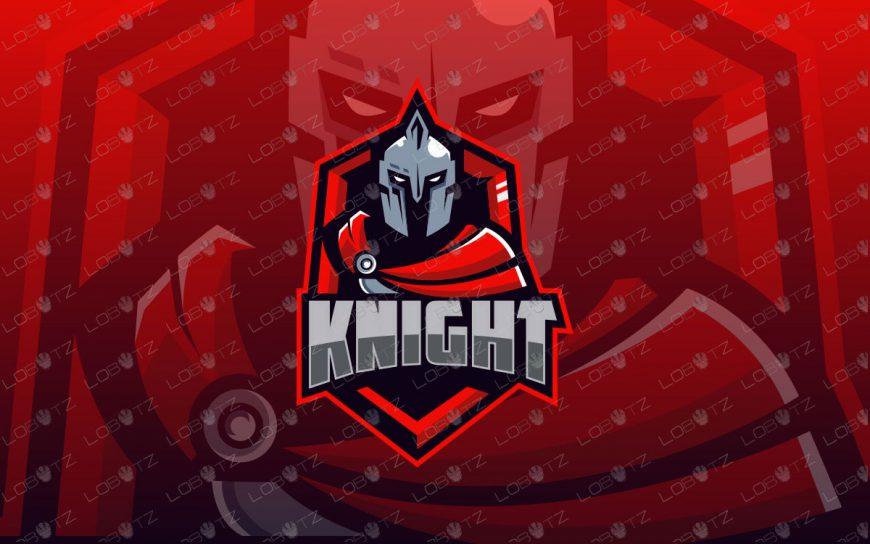 Premade Knight Mascot Logo | Spartan Mascot Logo For Sale