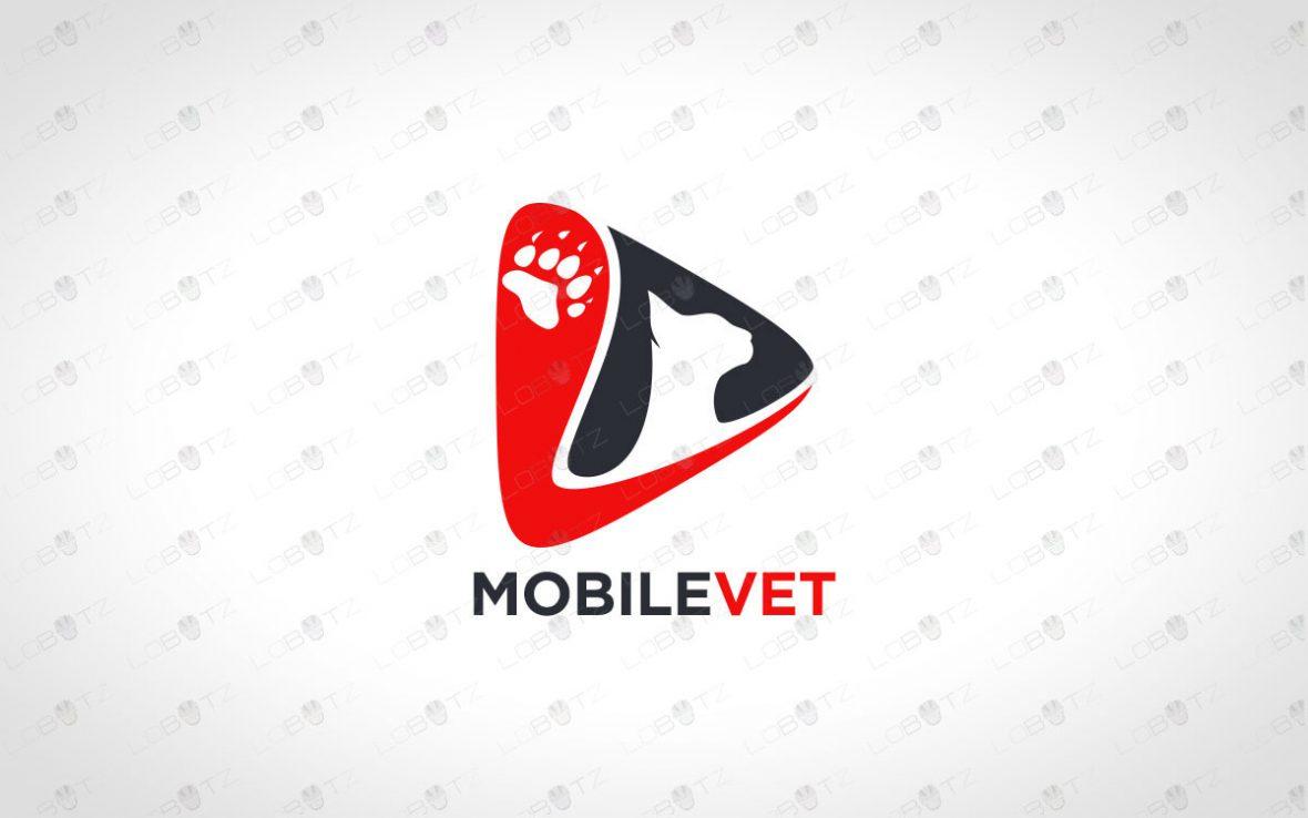 Premade Cat Logo   Modern Cat Logo For Sale
