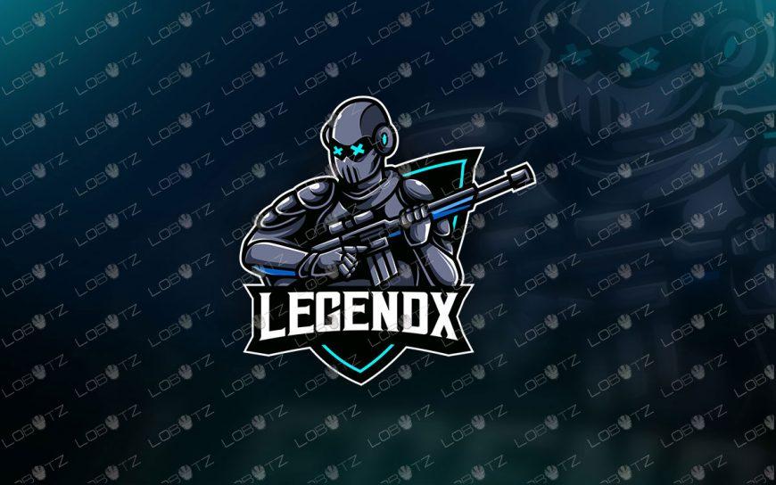 Futuristic Soldier Mascot Logo Soldier eSports Logo Premade