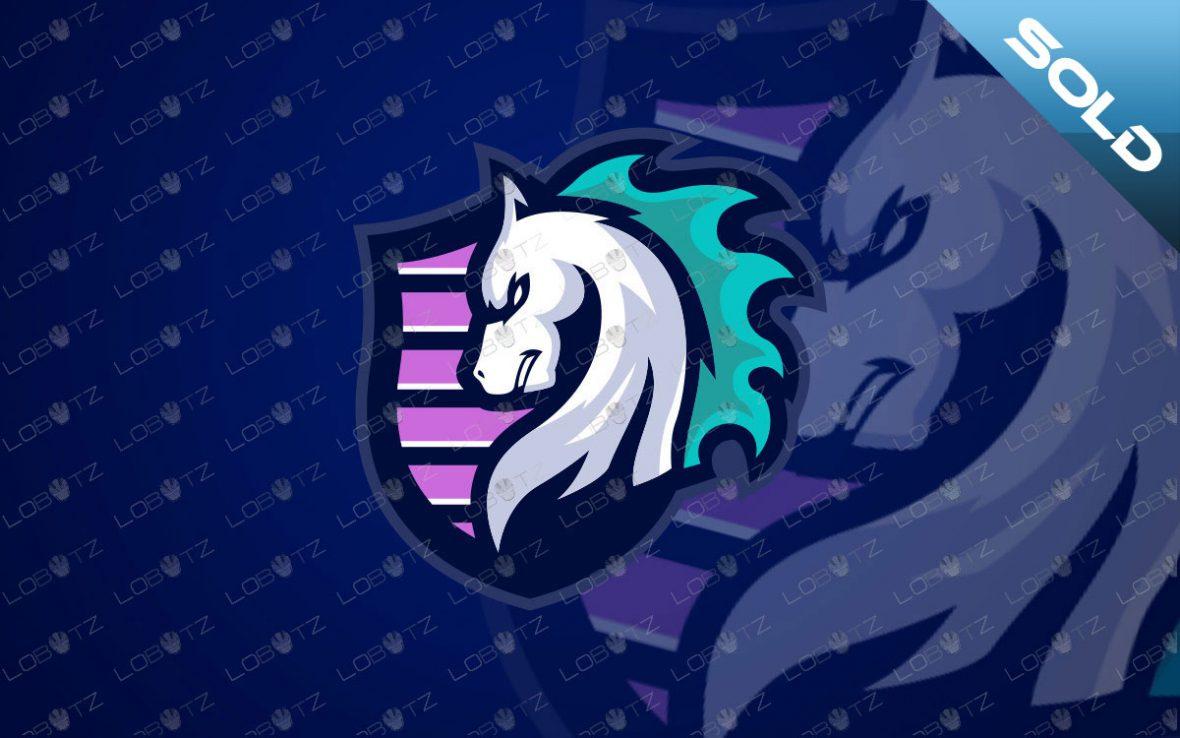 Shield Horse Mascot Logo For Sale   Horse eSports Logo