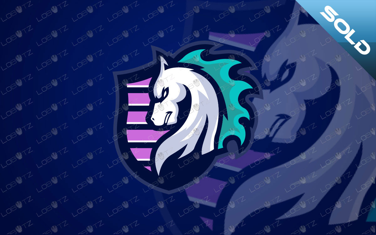 Shield Horse Mascot Logo For Sale | Horse eSports Logo