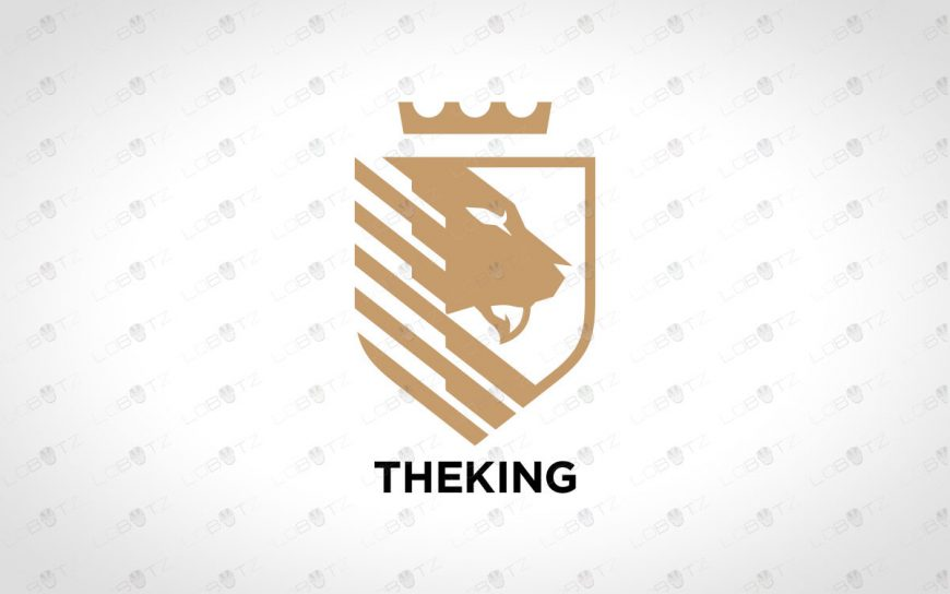 Brave Lion Logo | Majestic King Lion Logo For Sale