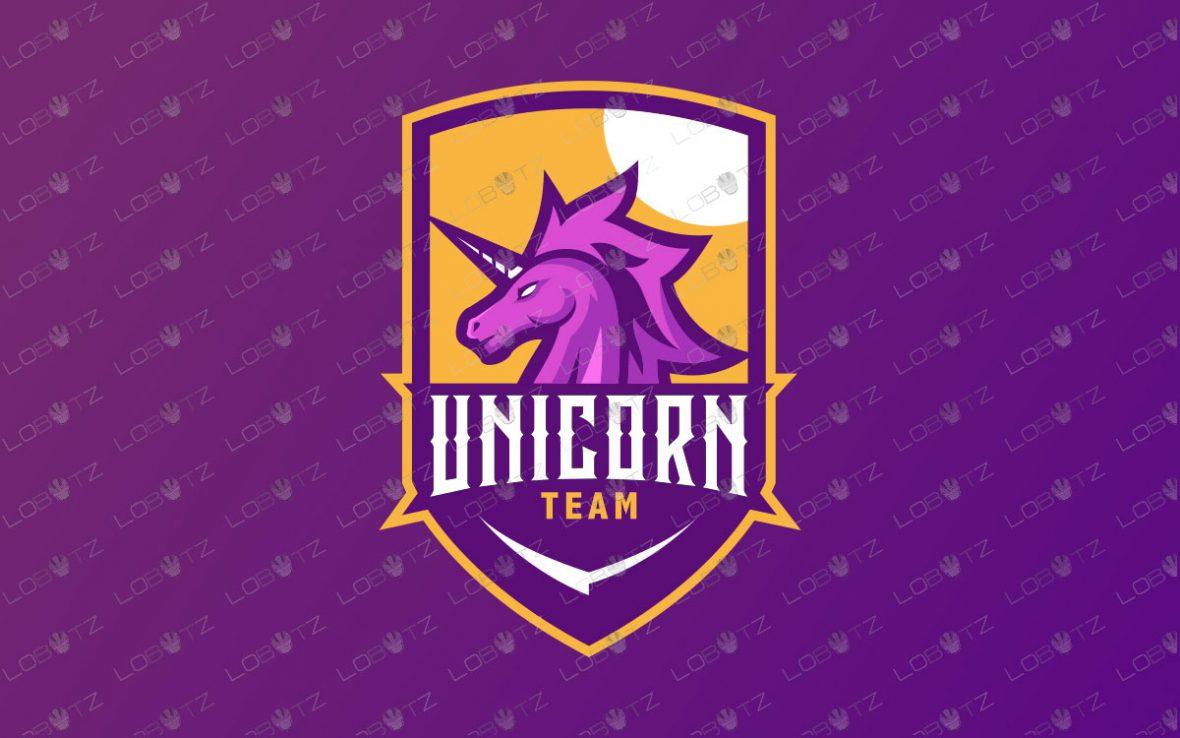 Premade Unicorn Mascot Logo | Unicorn Mascot Logo For Sale