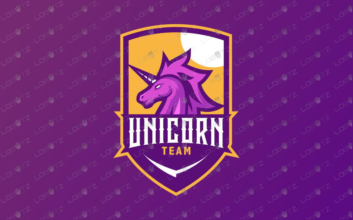 Premade Unicorn Mascot Logo   Unicorn Mascot Logo For Sale