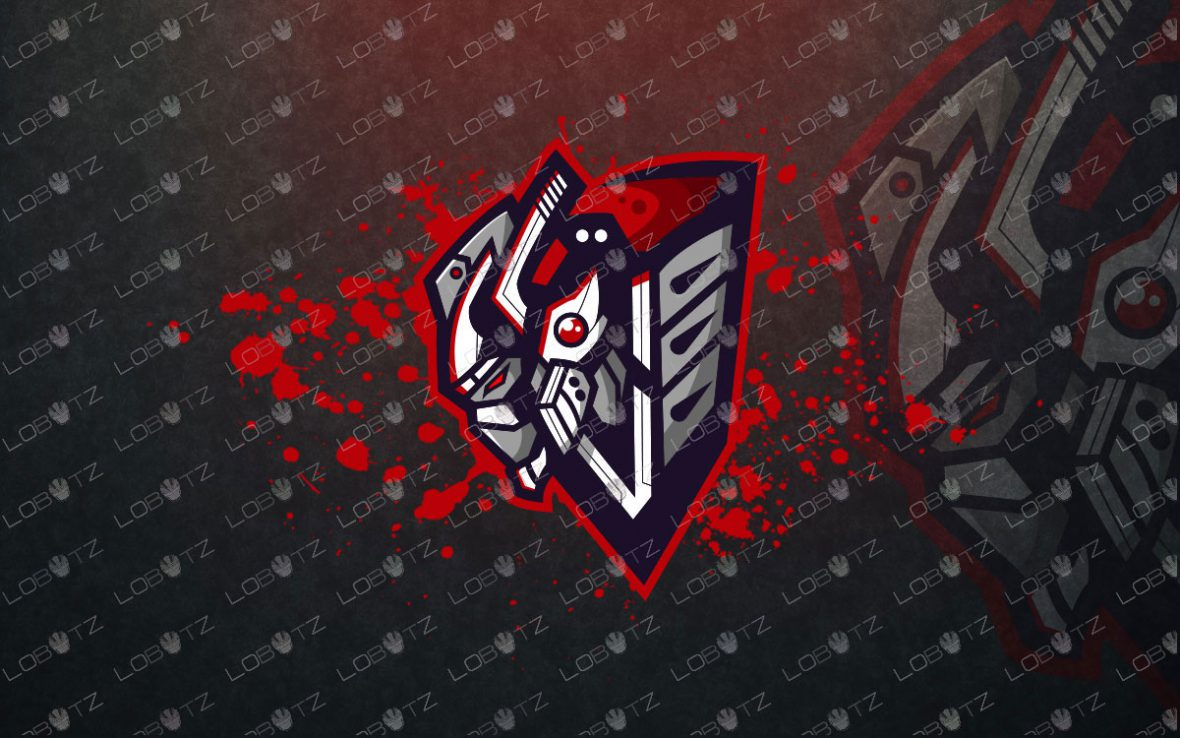 Premade Robot Assassin Mascot Logo For Sale | Robot Mascot Logo