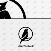 Premade Nightingale Logo For Sale | Bird Logo