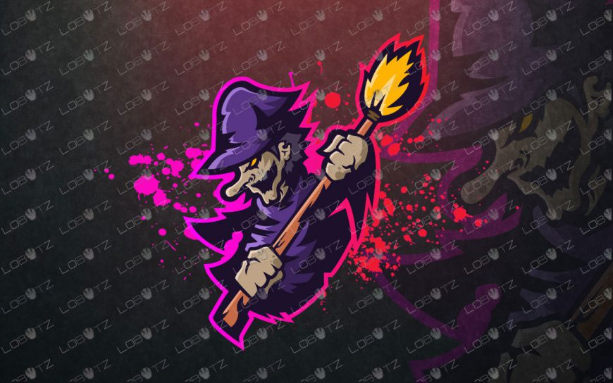 Awesome Witch Mascot Logo | Witch Mascot Logo
