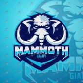 Mammoth Mascot Logo | Mammoth eSports Logo For Sale