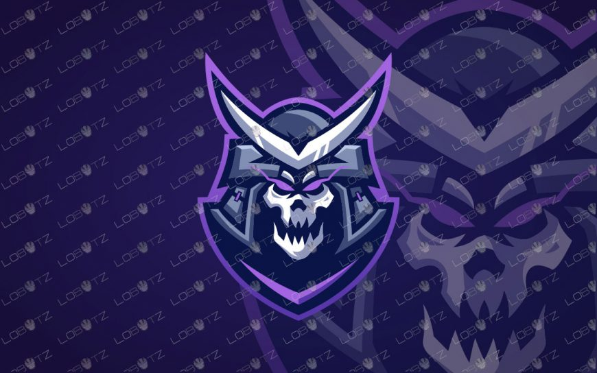 Samurai Mascot Logo | Premade Samurai eSports Logo For Sale