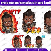 Apex Legends Gibraltar Emotes | Premade Twitch Emotes Gibraltar