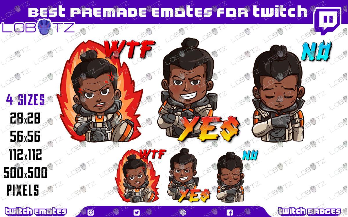 Apex Legends Gibraltar Emotes | Premade Twitch Emotes Gibraltar