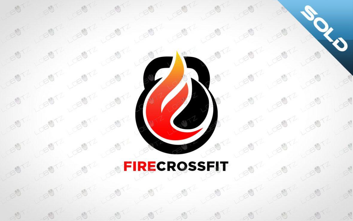 fire crossfit logo fire fitness logo for sale