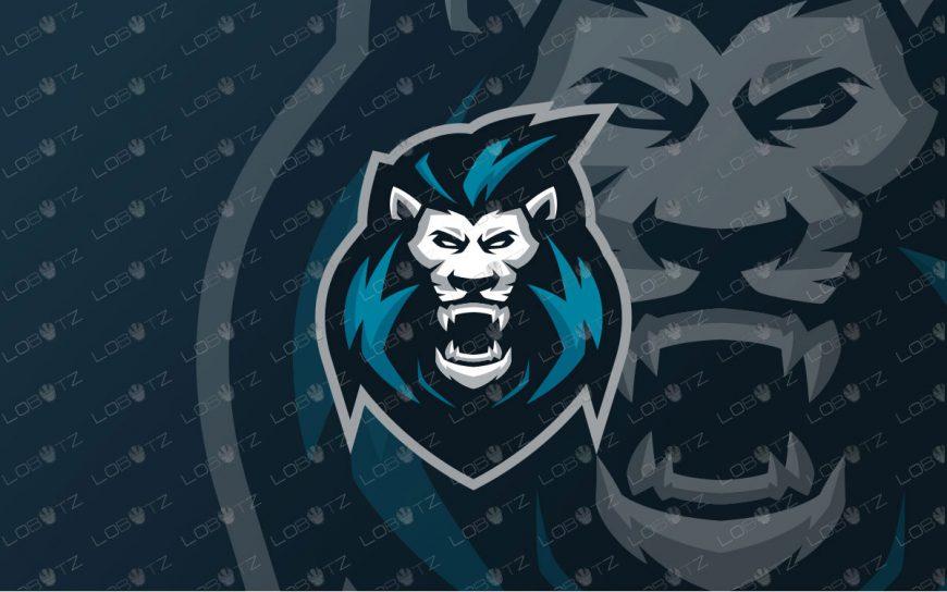 King Lion Mascot Logo | Premade Lion Mascot Logo For Sale