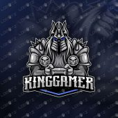 Lich King Gamer Mascot Logo For Sale
