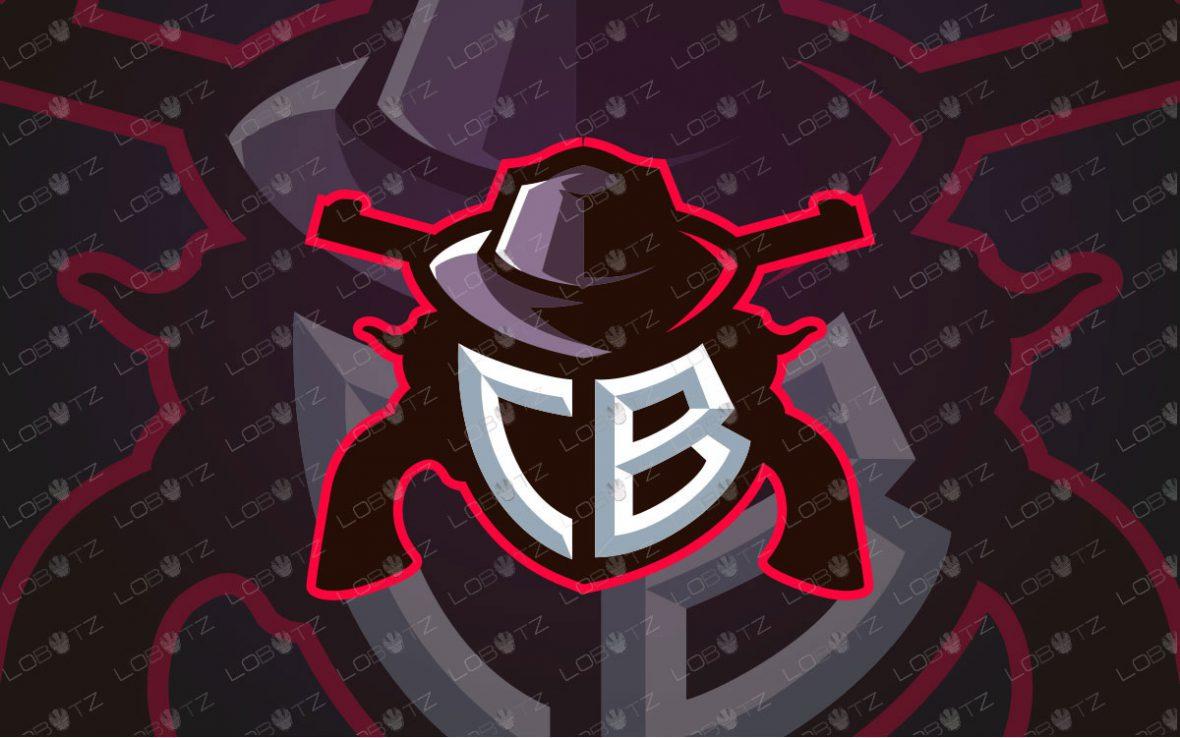 CB Cowboy Mascot Logo | Cowboy ESports Logo For Sale