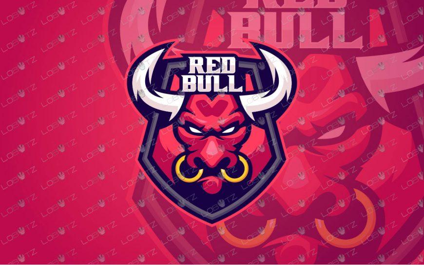 Red Bull Mascot Logo For Sale | Bull ESports Logo