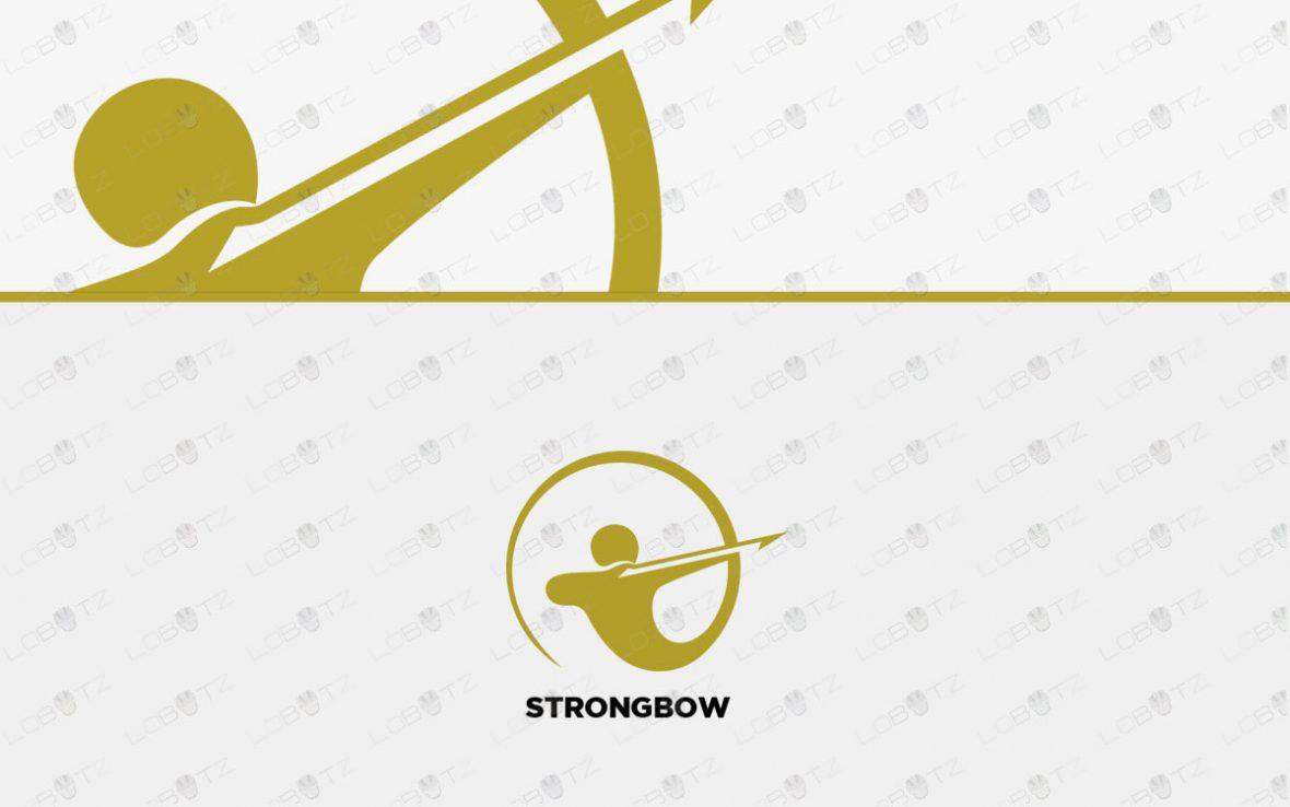 Archer Logo   Brand Logo   Strong Bow Logo For Sale