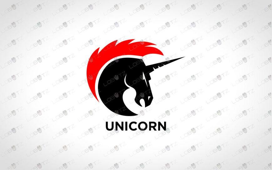 Strong Unicorn Logo | Premade Unicorn Logo For Sale