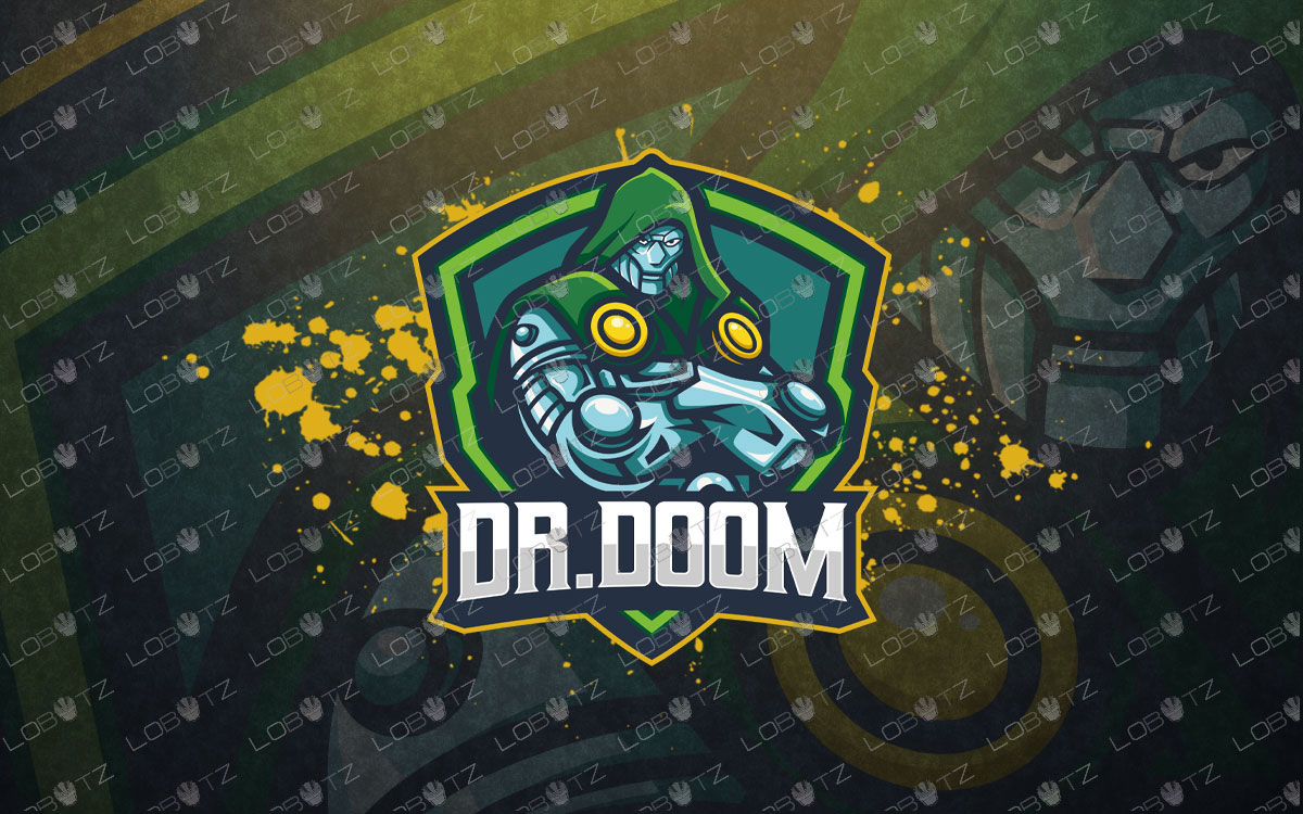 Doctor Doom Mascot Logo For Sale Premade Logos