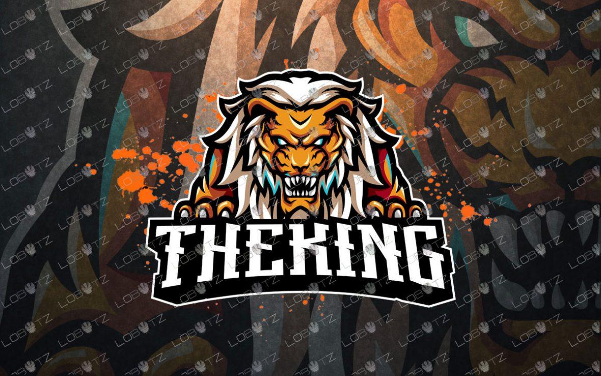 Breathtaking Lion Mascot Logo | Lion ESports Logo For Sale