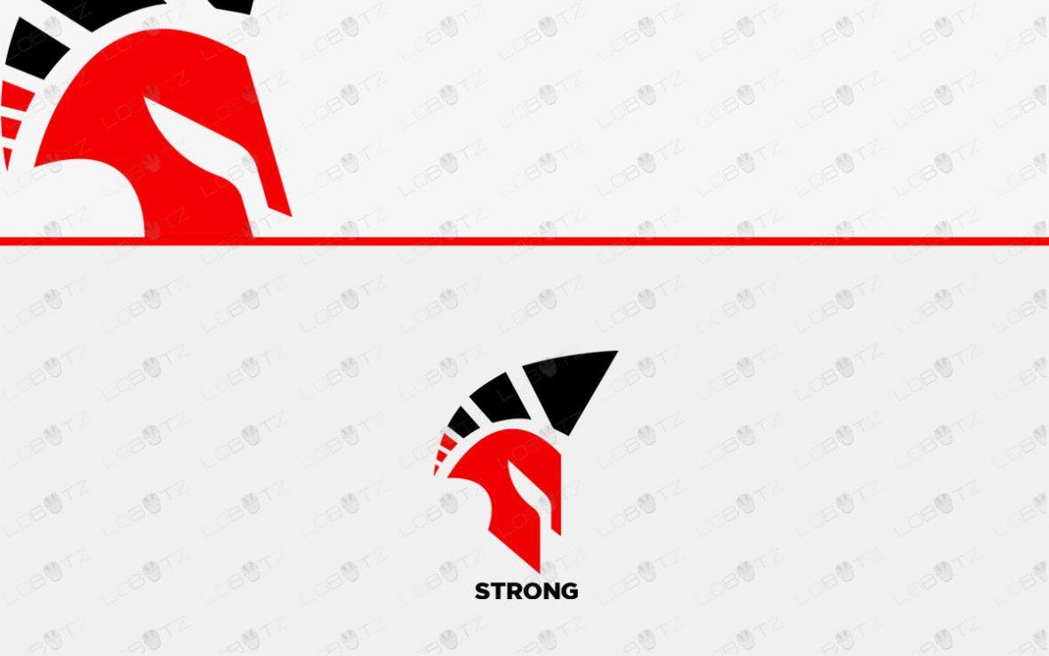 Awesome Spartan Head Logo For Sale   Premade Logos