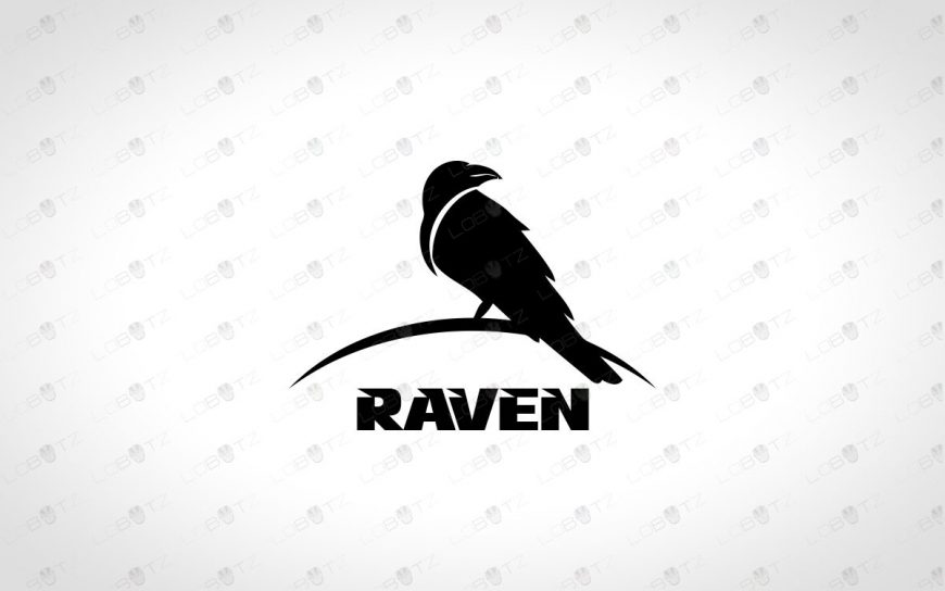Modern & Simple Raven Logo For Sale