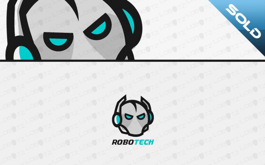 robot head logo for sale