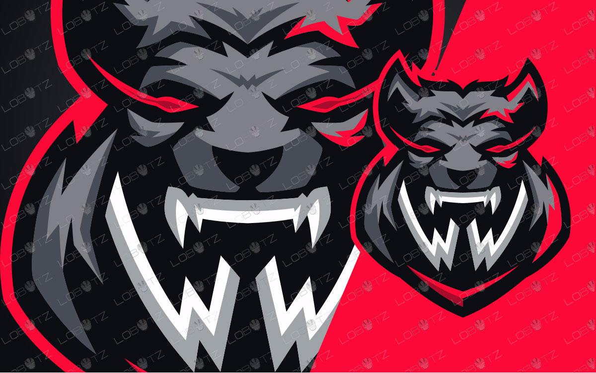 Gaming Logo | Letter WW Werewolf Mascot Logo For Sale