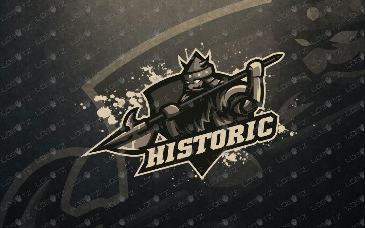 Gaming Logo | Premade Knight King Mascot Logo