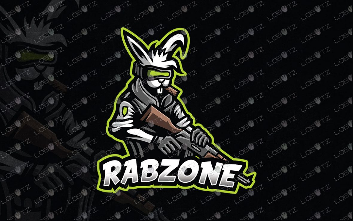 Gaming Logo   Premade Rabbit Mascot Logo For Sale