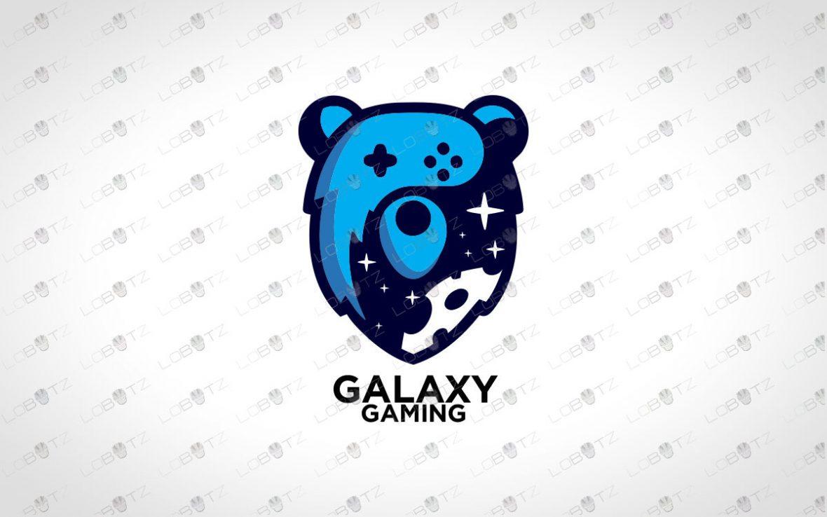 Galaxy Gaming Bear Logo For Sale   Gaming Logo