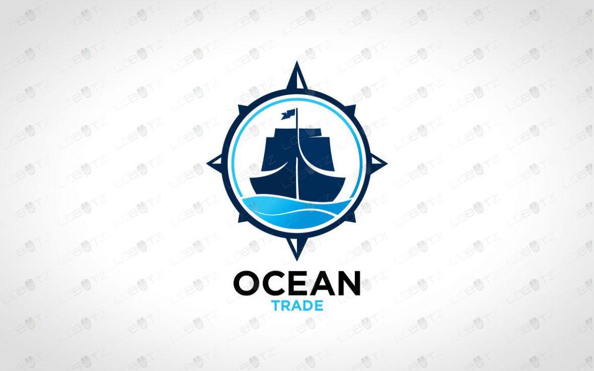 Premade Boat Logo   Spectacular Ship Logo For Sale