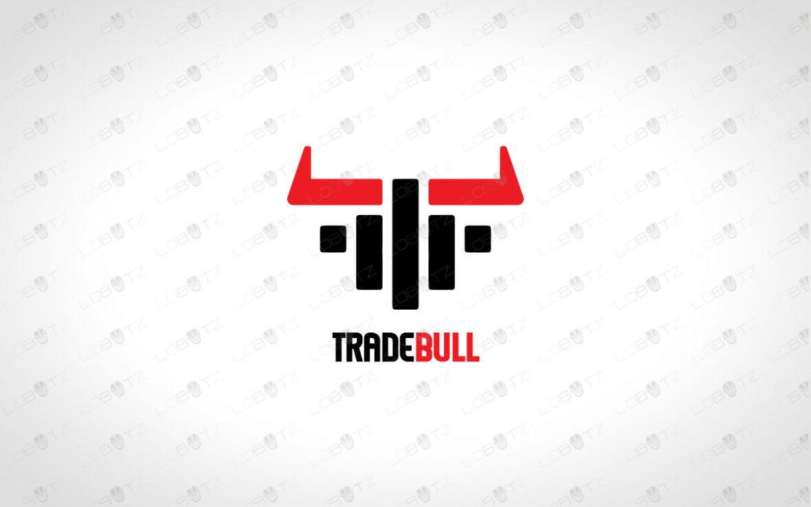 Trade Bull Logo For Sale   Strong Bull Logo