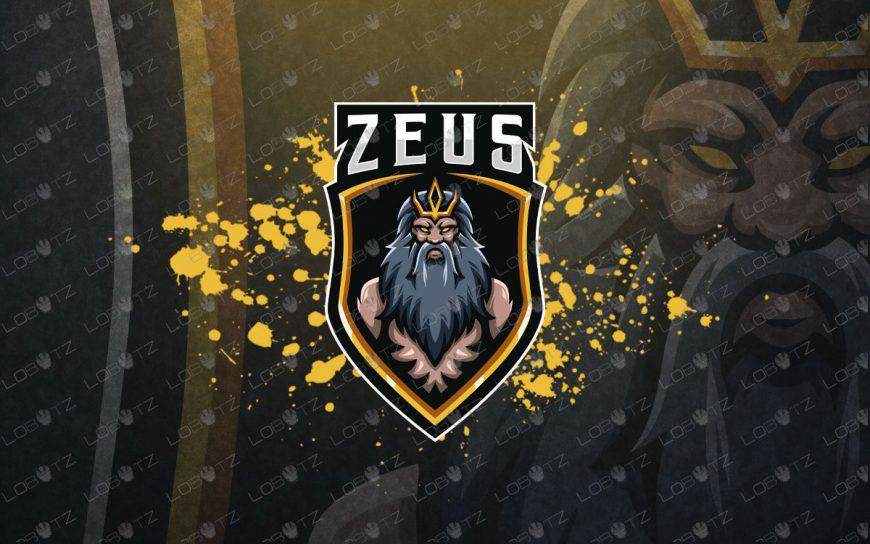 Zeus ESports Logo | God Zeus Mascot Logo For Sale