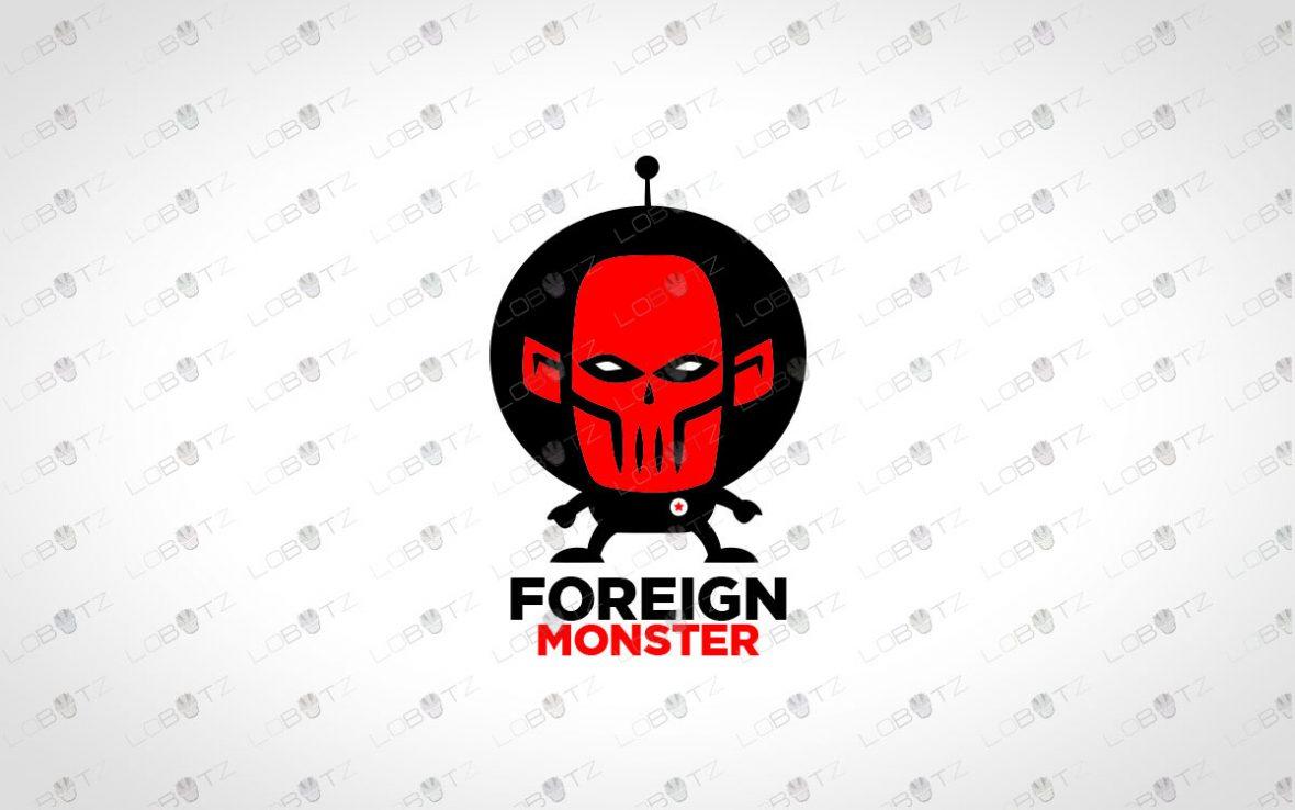 Monster Alien Logo For Sale | Premade Astronaut Logo