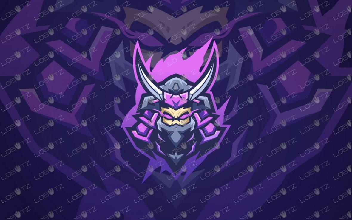 Samurai Mascot Logo For Sale   Skull Hanzo Mascot Logo