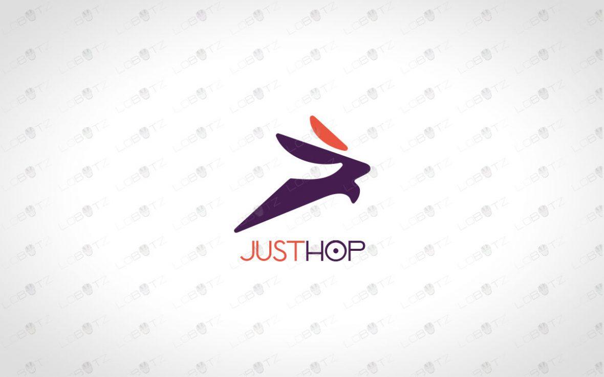 Modern Rabbit Logo For Sale | Bunny Logo