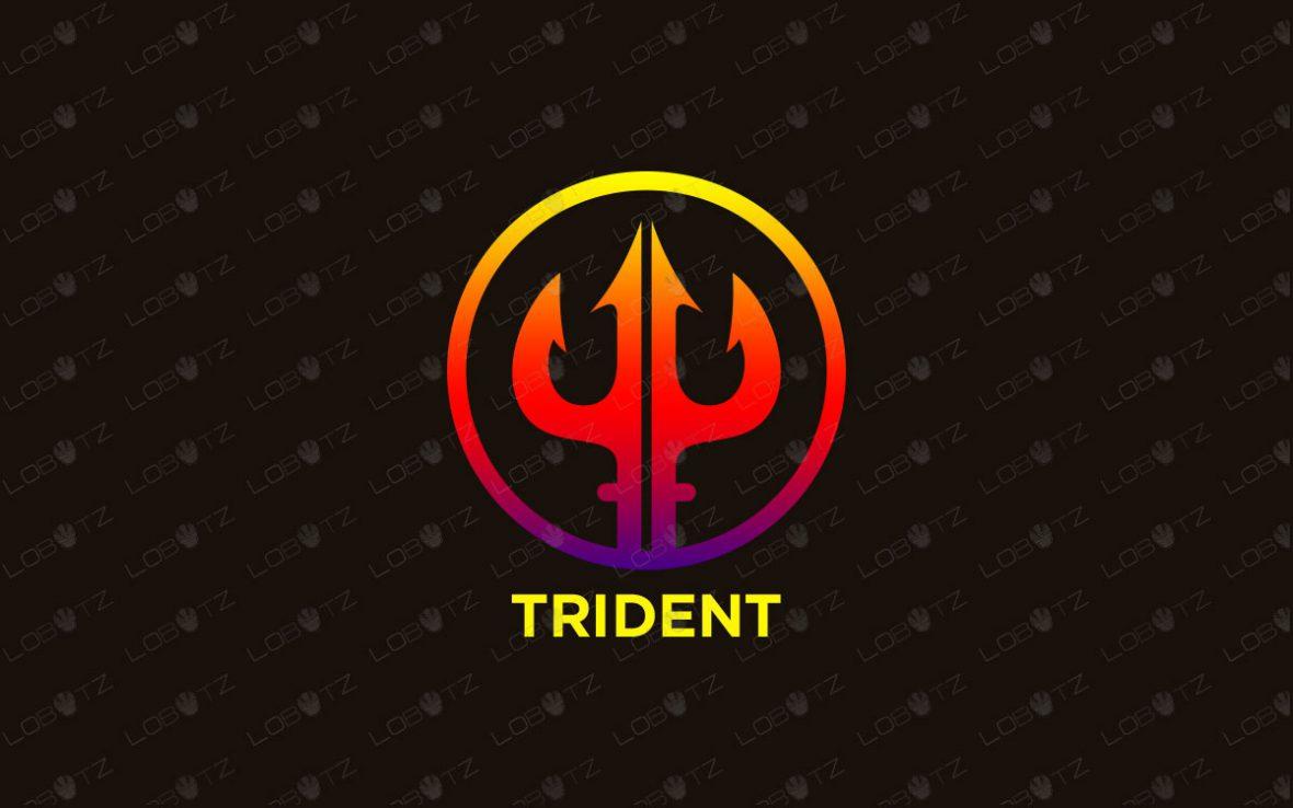 Trident Logo   Modern & Trendy Trident Logo For Sale