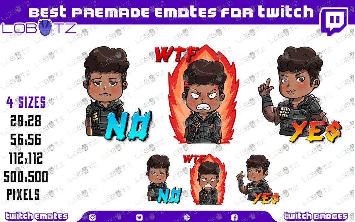 Apex Legends Bangalore Emotes   Premade Twitch Emotes Bangalore