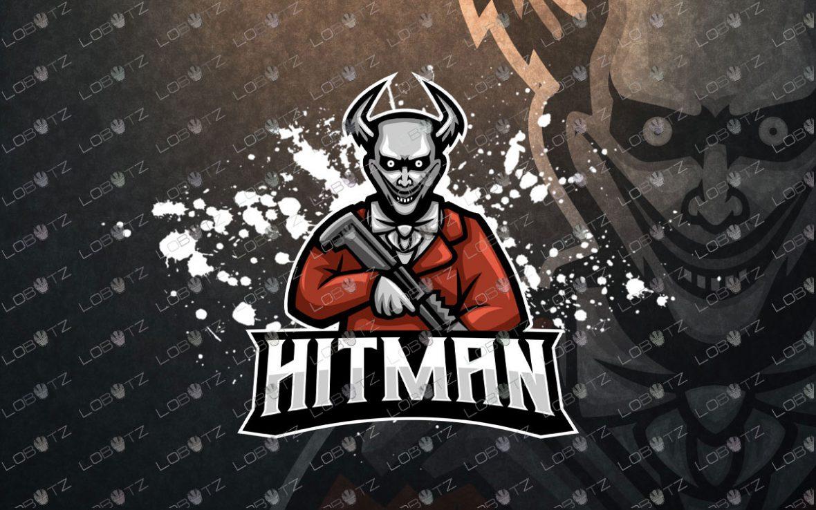 Skull Soldier Mascot Logo   Skull Soldier ESports Logo hitman mascot logo for sale